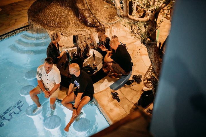 Poolside Terrace Bed (6 people)