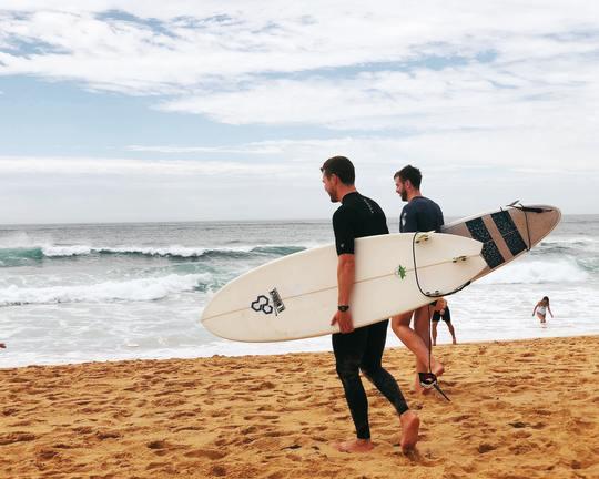 Surf before work