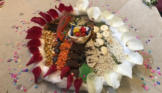 Example of an Offering to Mother Earth