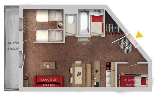 6 Person   1 Bedroom