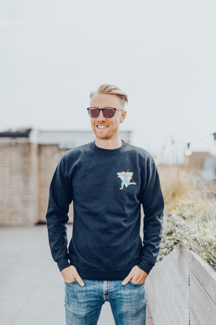 Navy Blue Sweater Male Figure
