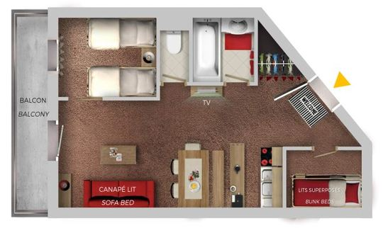 6 Person | 2 Bedrooms