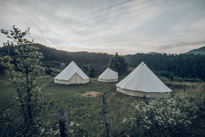 Bell Tents in the Meadow