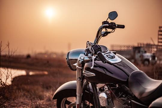 Sunset Harley Ride