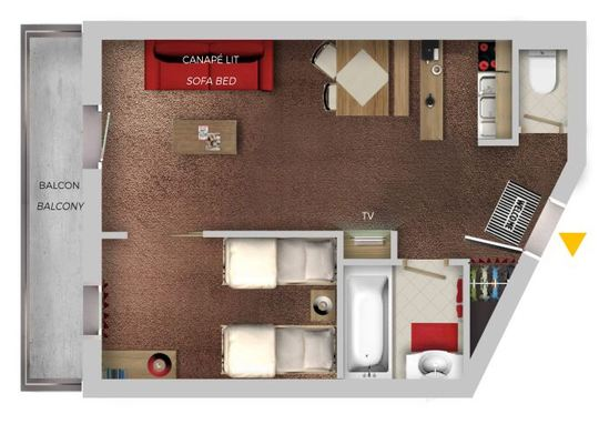 4 Person | 1 Bedroom