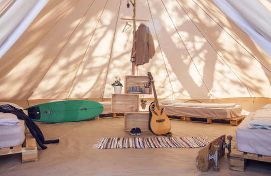 Shared Tipi Tents