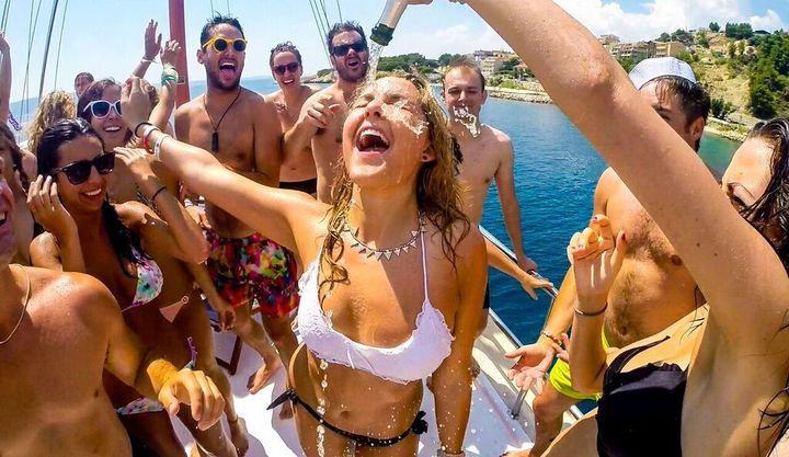 champagne shower yacht party