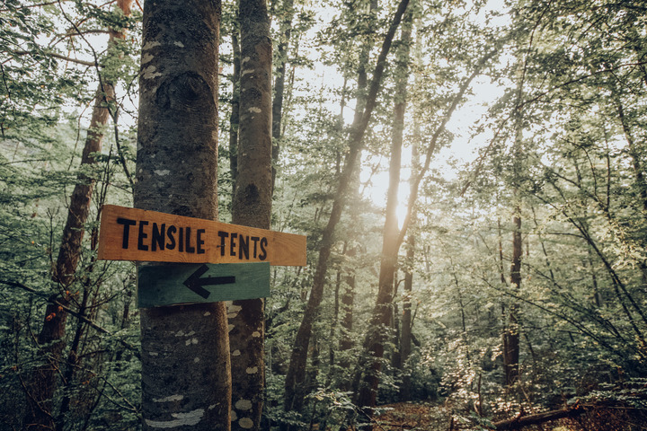 Tensile Tents sign