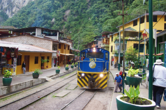Train ride from Hydroelectrica to Machu Picchu Town