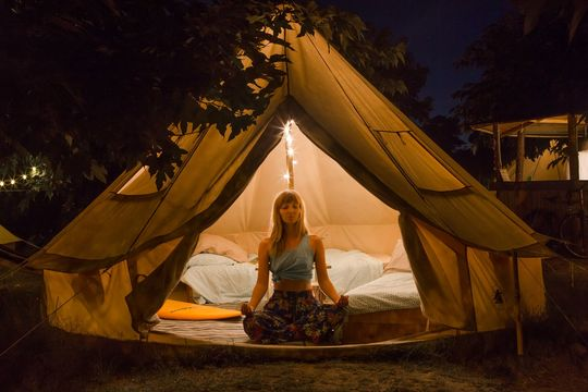 Single Bed in a Shared Triple Tent