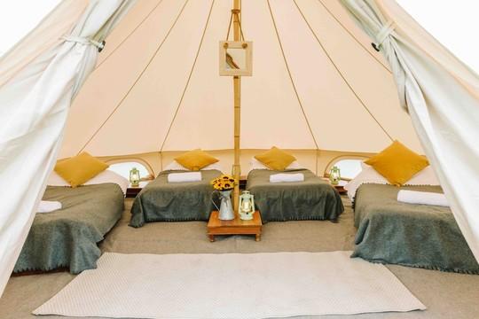 Camp, glamp or bring your own campervan
