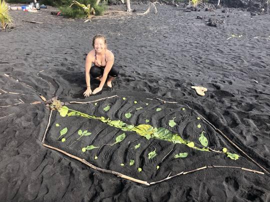 Black sand beach ritual