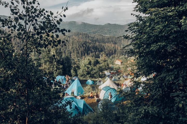 DIY camping village